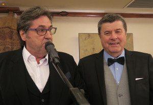 Brødrene Ulf og Dag Spantell hadde aldri før stått på en scene sammen – sangerveteranen Dag ble en stor suksess på festen.