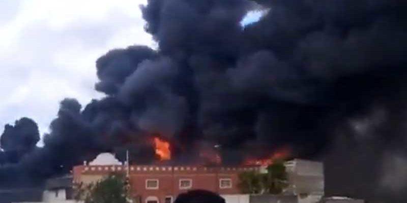 Mobelfabrik brann ned